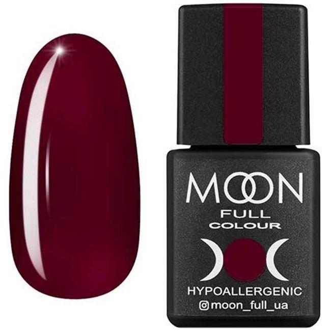 Гель-лак Moon Full Color №142** (бургундский, эмаль) 8 мл