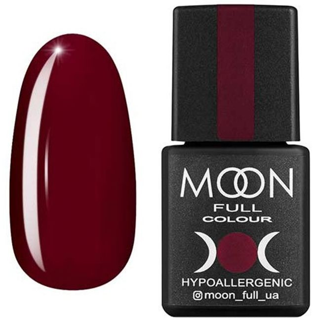Гель-лак Moon Full Color №144 (карминный, эмаль) 8 мл