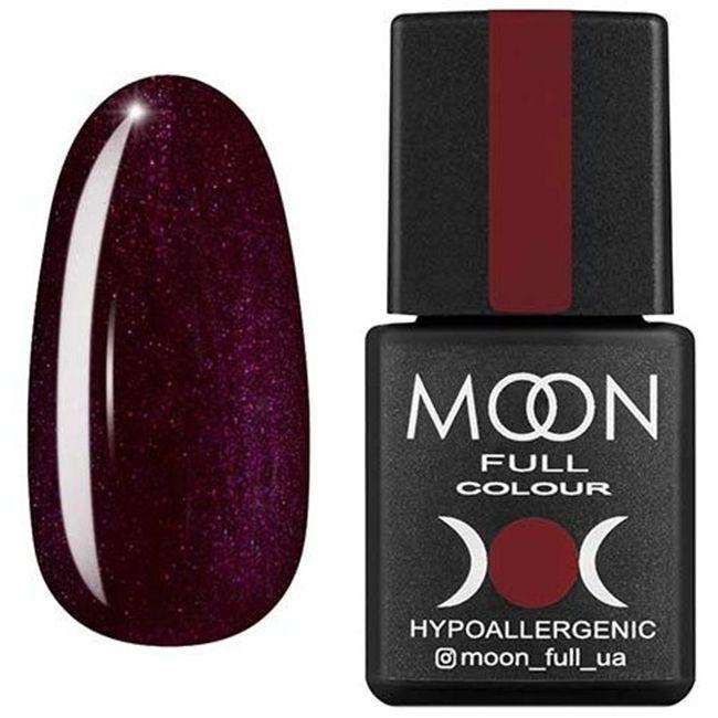 Гель-лак Moon Full Color №145 (баклажановый, эмаль) 8 мл