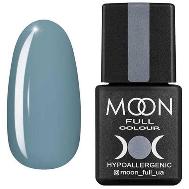 Гель-лак Moon Full Color №150 (светлый серо-голубой, эмаль) 8 мл