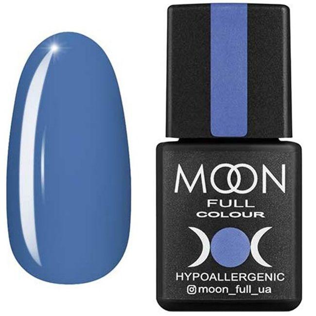 Гель-лак Moon Full Color №154 (голубой с серым подтоном, эмаль) 8 мл