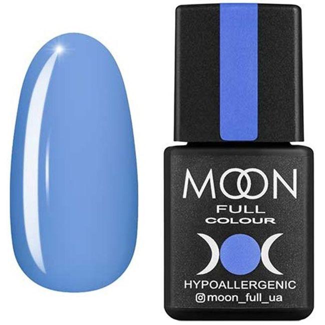 Гель-лак Moon Full Color №155* (воздушно-синий, эмаль) 8 мл