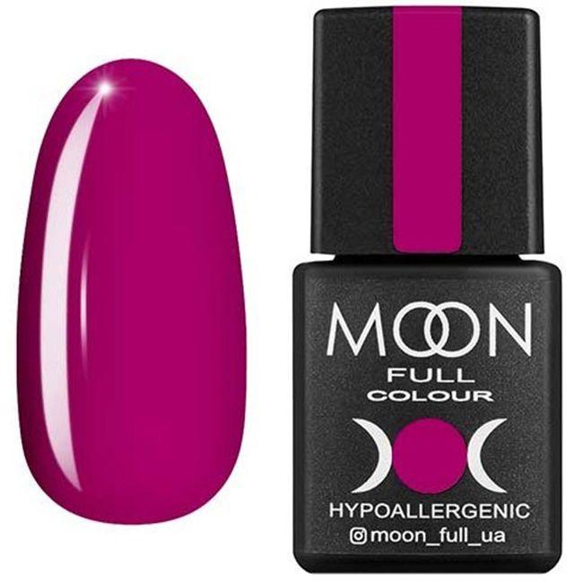 Гель-лак Moon Full Color №166 (глубокий розовый, эмаль) 8 мл