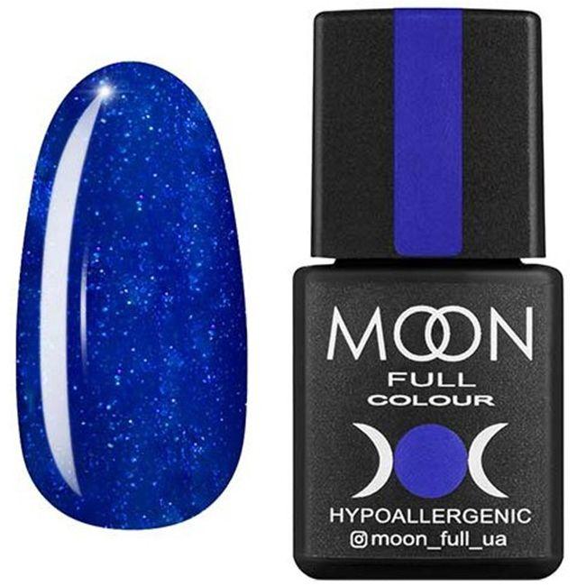 Гель-лак Moon Full Color №180* (сверкающий кобальт с микроблеском) 8 мл