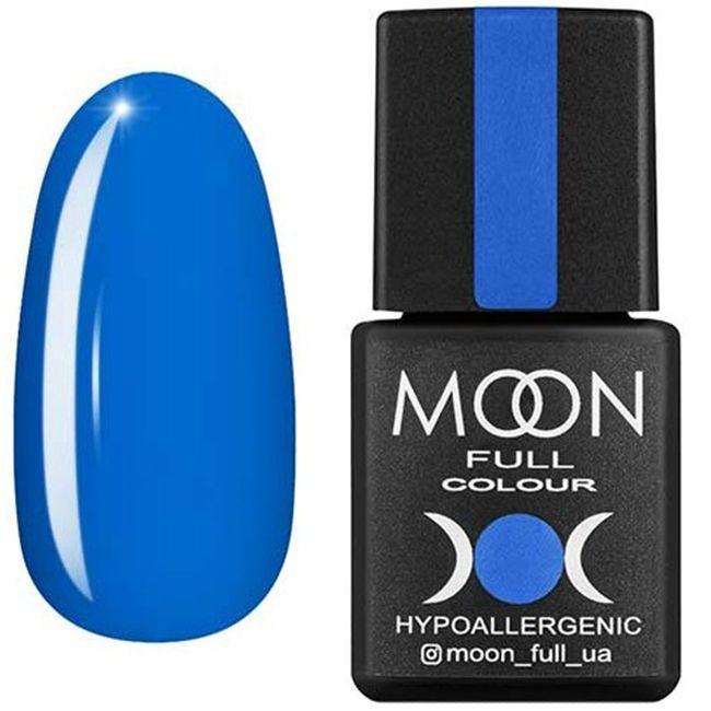 Гель-лак Moon Full Color №182 (лазурный, эмаль) 8 мл
