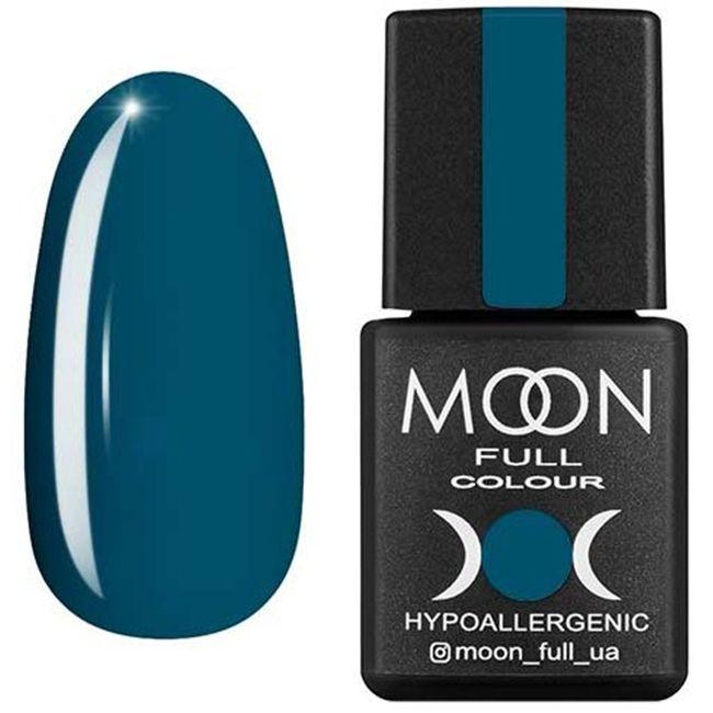 Гель-лак Moon Full Color №184 (серо-зеленый, эмаль) 8 мл