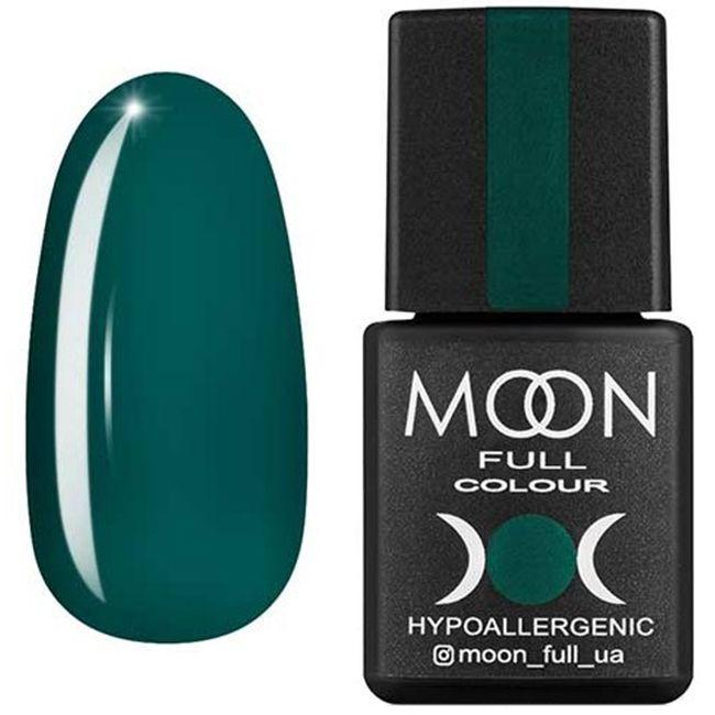 Гель-лак Moon Full Color №185* (ярко-зеленый, эмаль) 8 мл