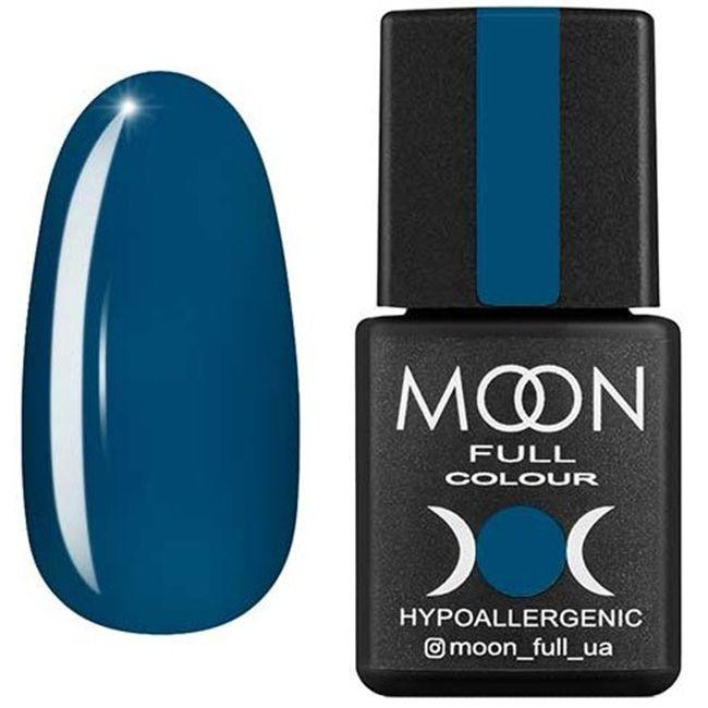 Гель-лак Moon Full Color №186 (темно-бирюзовый, эмаль) 8 мл