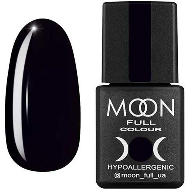 Гель-лак Moon Full Color №188** (глубокий черный, эмаль) 8 мл