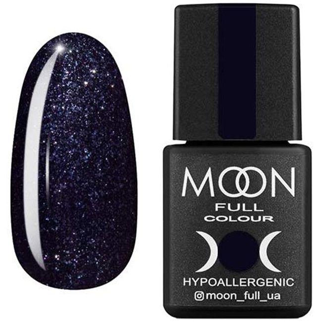 Гель-лак Moon Full Color №189* (черный с микроблеском) 8 мл