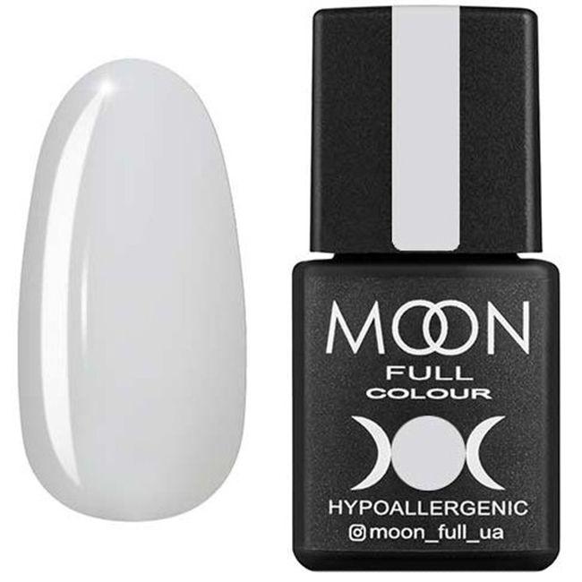 Гель-лак Moon Full Color №201** (белый полупрозрачный, эмаль) 8 мл