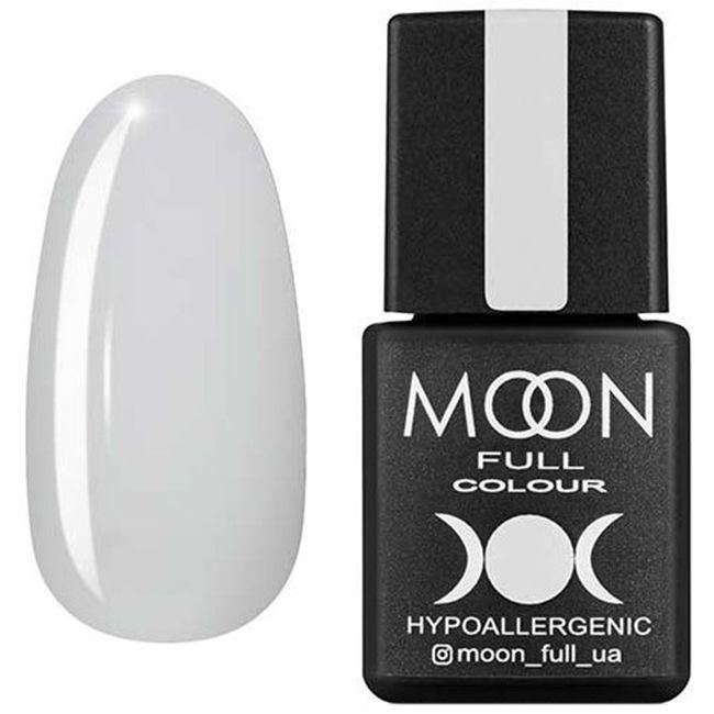 Гель-лак Moon Full Color №202** (белый полупрозрачный с микроблеском) 8 мл