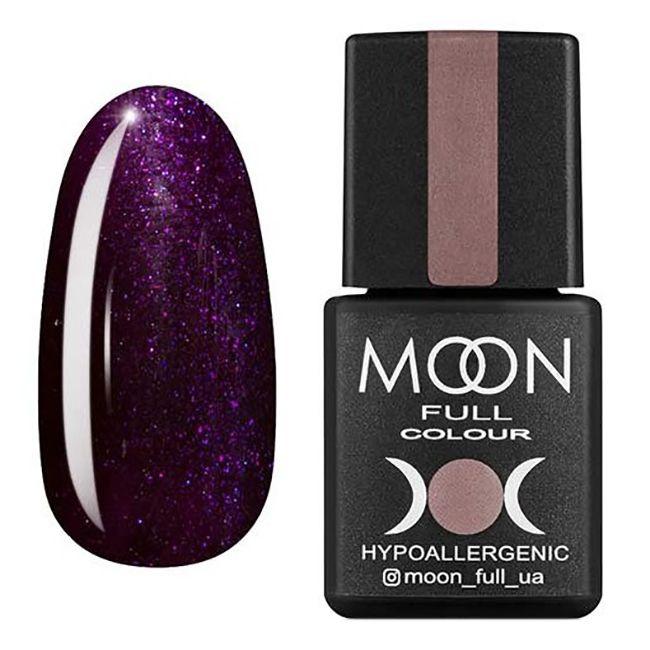 Гель-лак Moon Full №220* (фиолетово-синий с блестками) 8 мл