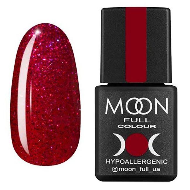Гель-лак Moon Full №211* (вишневый с блестками) 8 мл