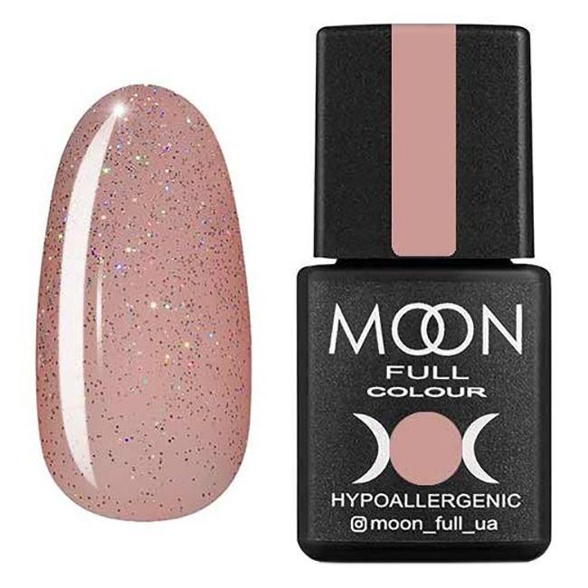 Гель-лак Moon Full №307* (полупрозрачный персиковый с разноцветным шиммером) 8 мл