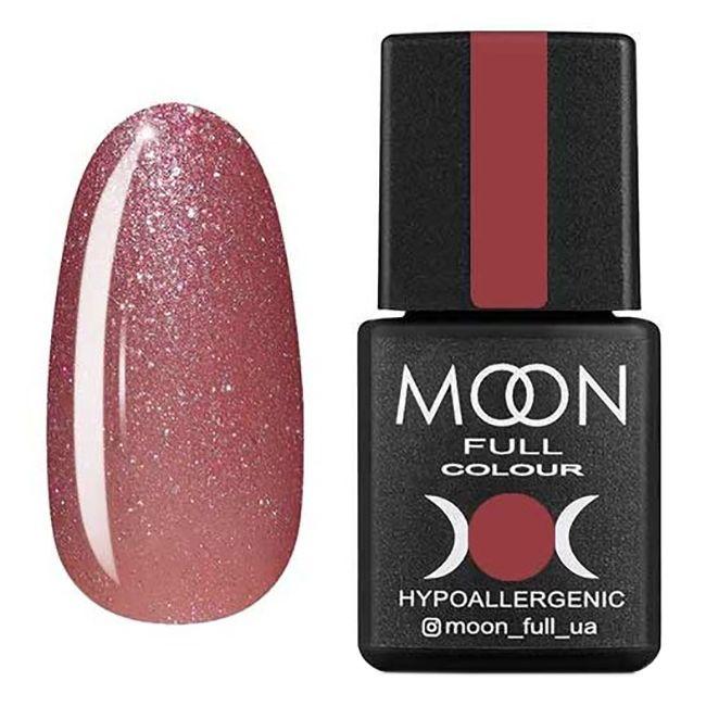 Гель-лак Moon Full №308* (приглушенный розовый с шиммером) 8 мл