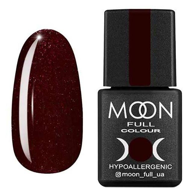 Гель-лак Moon Full №317 (шоколадно-вишневый с мелким шиммером) 8 мл