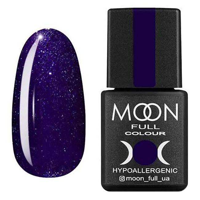 Гель-лак Moon Full №318 (фиолетовый с серебристым шиммером) 8 мл