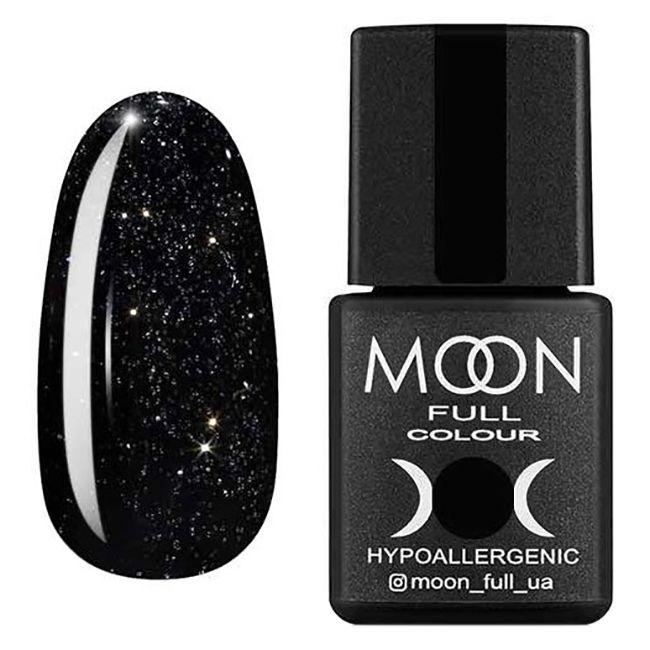 Гель-лак Moon Full №319* (черно-зеленый винтажный с серебристым шиммером) 8 мл