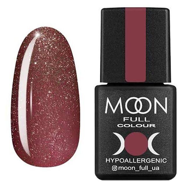 Гель-лак Moon Full №320* (темно-розовый винтажный с мелким шиммером) 8 мл