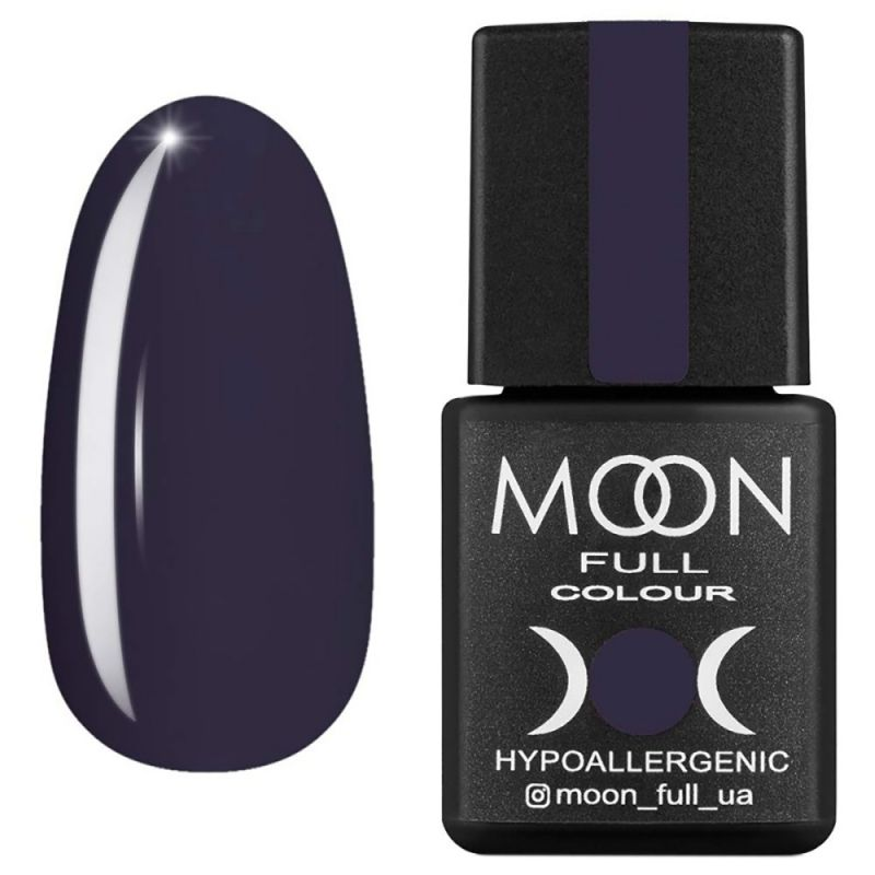 Гель-лак Moon Full Winter 2021 №661 (угольно-серый, эмаль) 8 мл