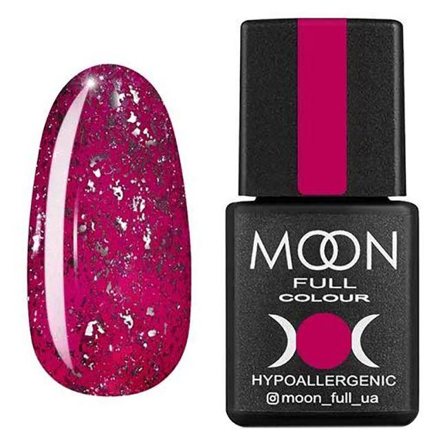 Гель-лак Moon Full Diamond №02 (розовый с серебристым глиттером) 8 мл