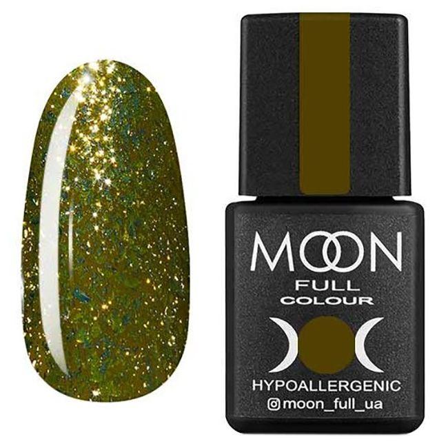Гель-лак Moon Full Diamond №03 (горчично-золотой с глиттером) 8 мл