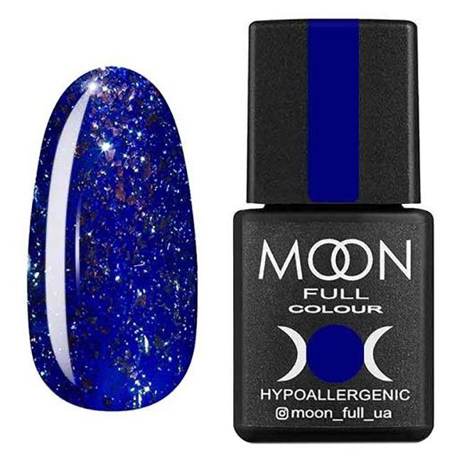 Гель-лак Moon Full Diamond №05 (ярко-синий с серебряным глиттером) 8 мл