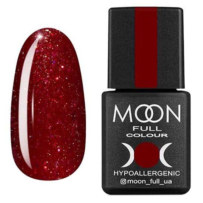 Гель-лак Moon Full Diamond №20* (темно-красный с розовым шиммером) 8 мл