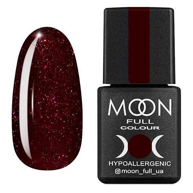 Гель-лак Moon Full Diamond №21 (насыщенный бордовый с розовым шиммером) 8 мл