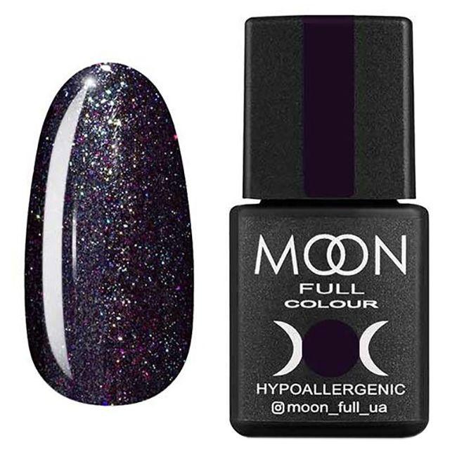 Гель-лак Moon Full Diamond №22* (карбоново-синий с разноцветным шиммером) 8 мл