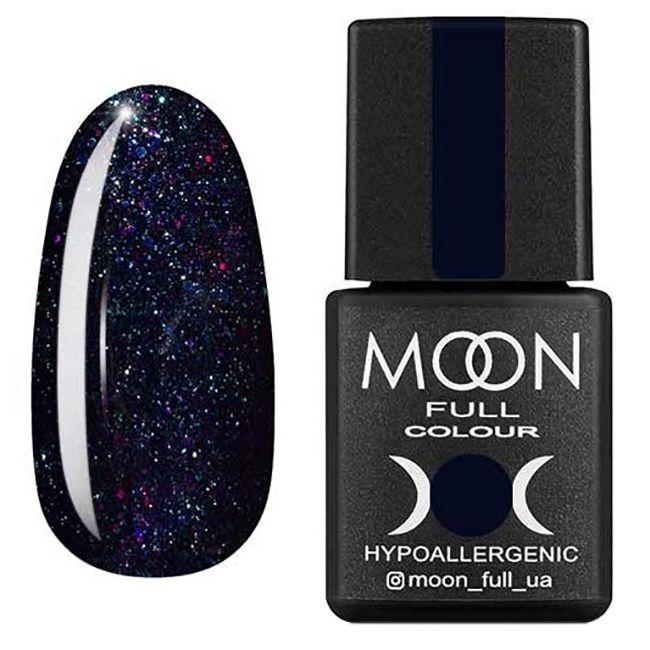 Гель-лак Moon Full Diamond №23* (чернично-синий с разноцветным шиммером) 8 мл