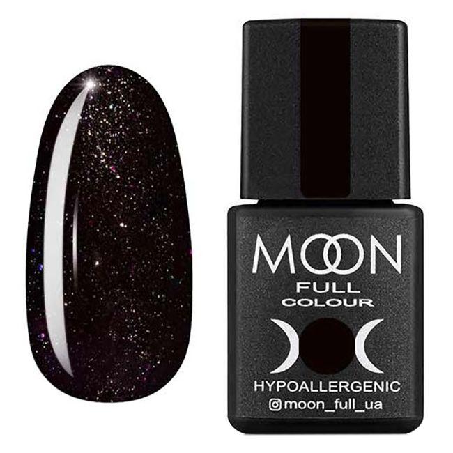 Гель-лак Moon Full Diamond №25 (черный с разноцветным глиттером) 8 мл