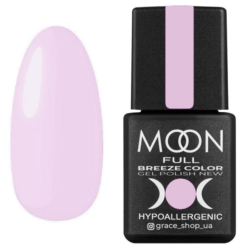 Гель лак Moon Full Breeze Color №402 (лилово-розовый, эмаль) 8 мл