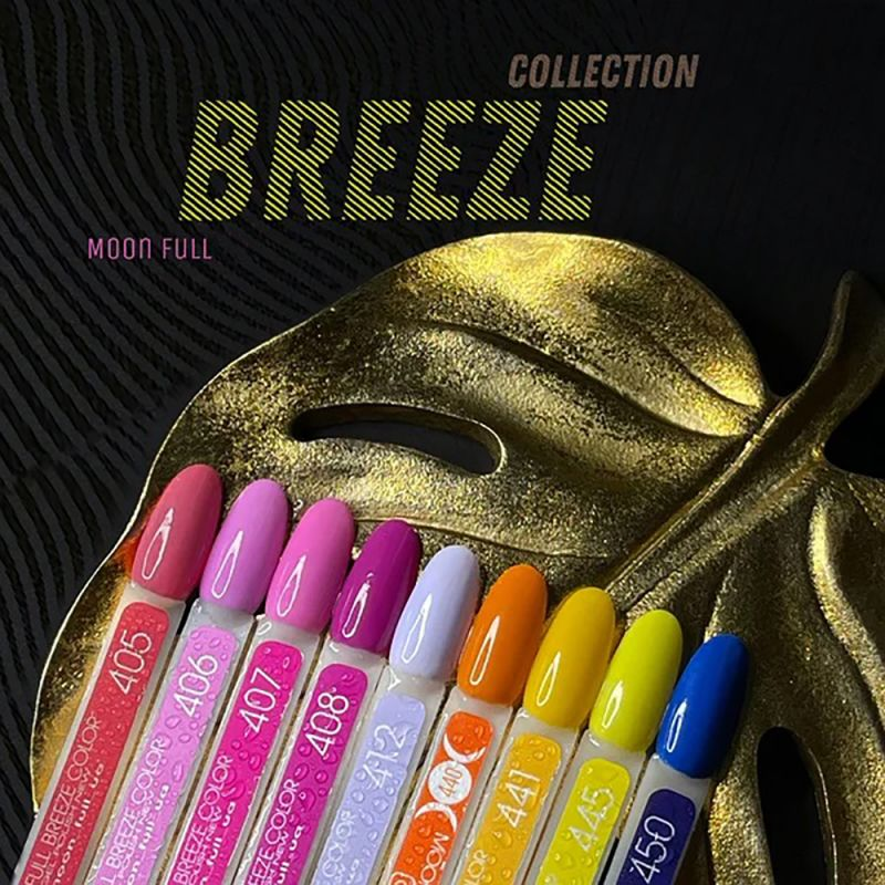 Гель-лак Moon Full Breeze Color №441 (банановый, эмаль) 8 мл
