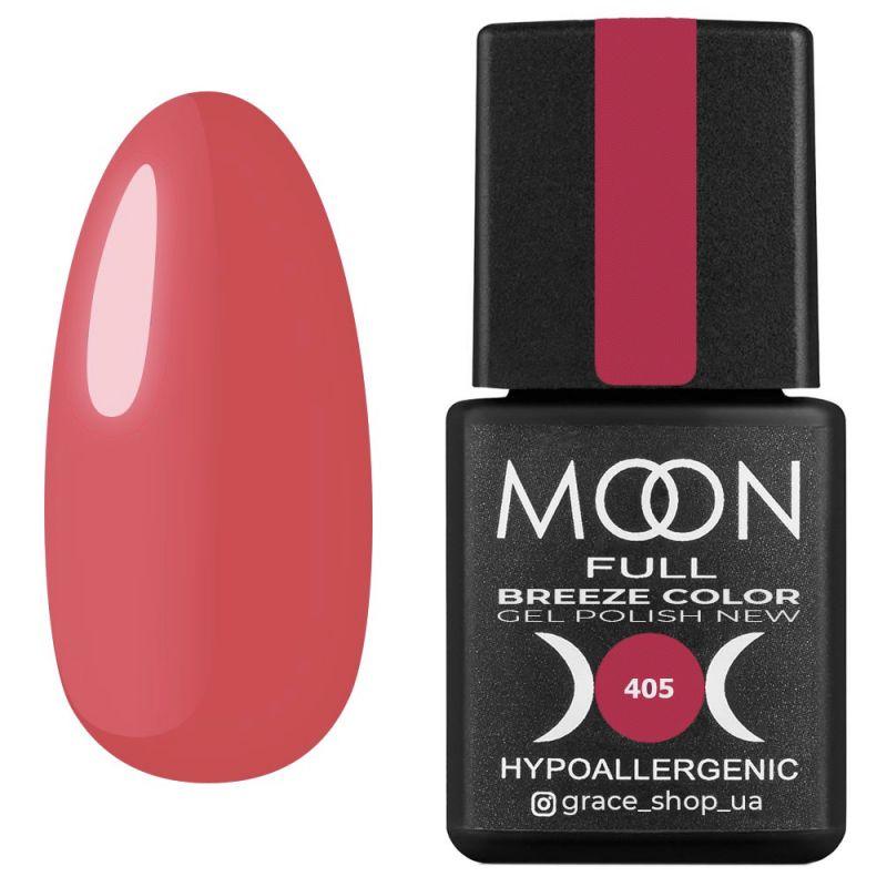 Гель-лак Moon Full Breeze Color №405 (коралловый, эмаль) 8 мл