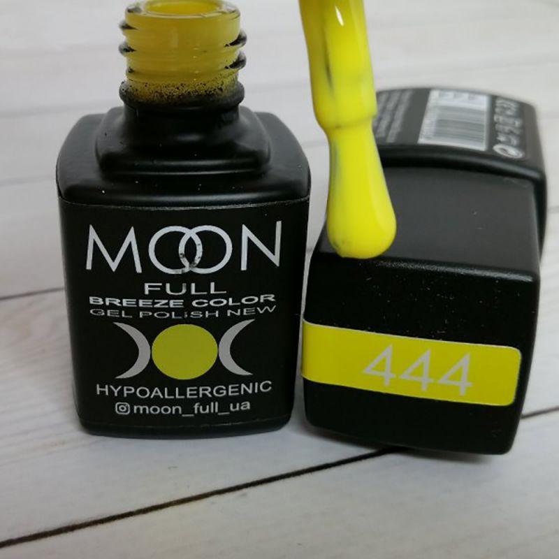 Гель-лак Moon Full Breeze Color №444 (канареечно-желтый, эмаль) 8 мл