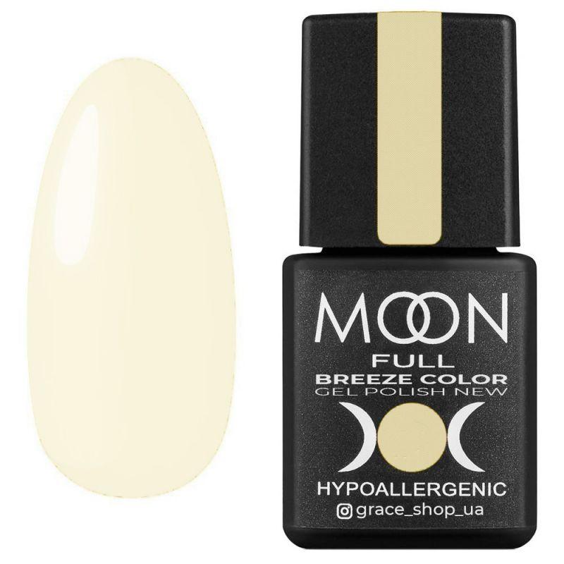 Гель-лак Moon Full Breeze Color №448 (бело-желтый, эмаль) 8 мл