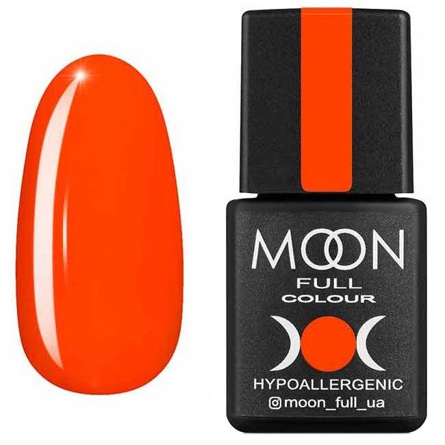 Гель лак Moon Full Neon №707* (морковно-коралловый, эмаль) 8 мл