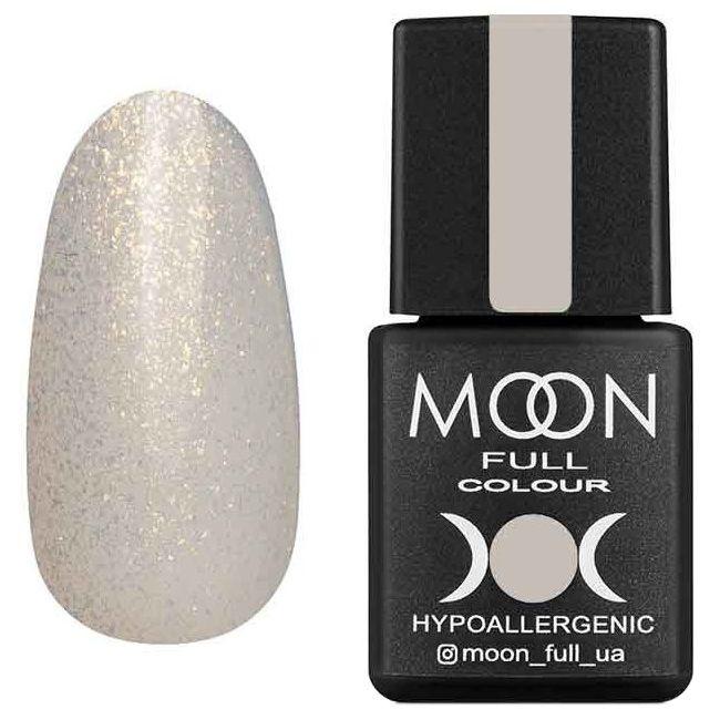 Гель-лак Moon Full Opal Color №501 (полупрозрачный с золотым шиммером) 8 мл