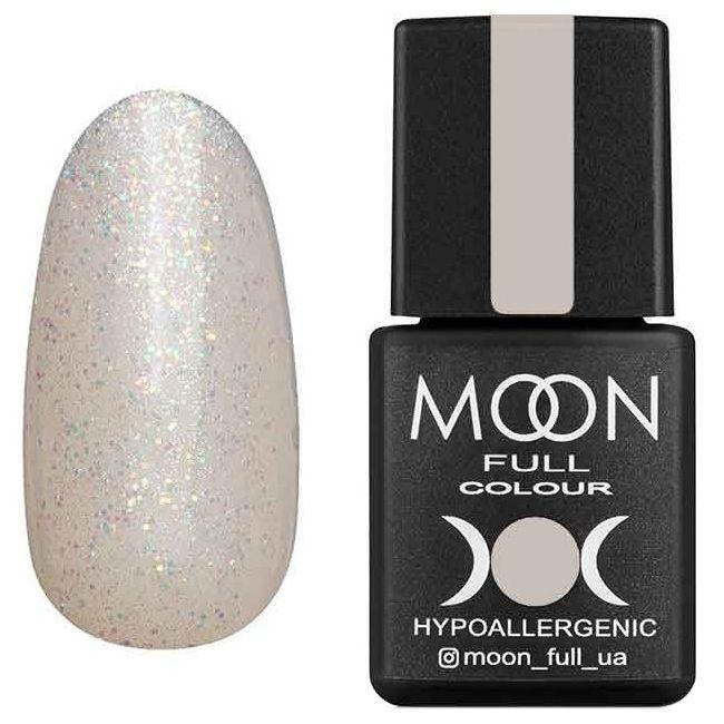 Гель-лак Moon Full Opal Color №502 (полупрозрачный с разноцветным шиммером) 8 мл