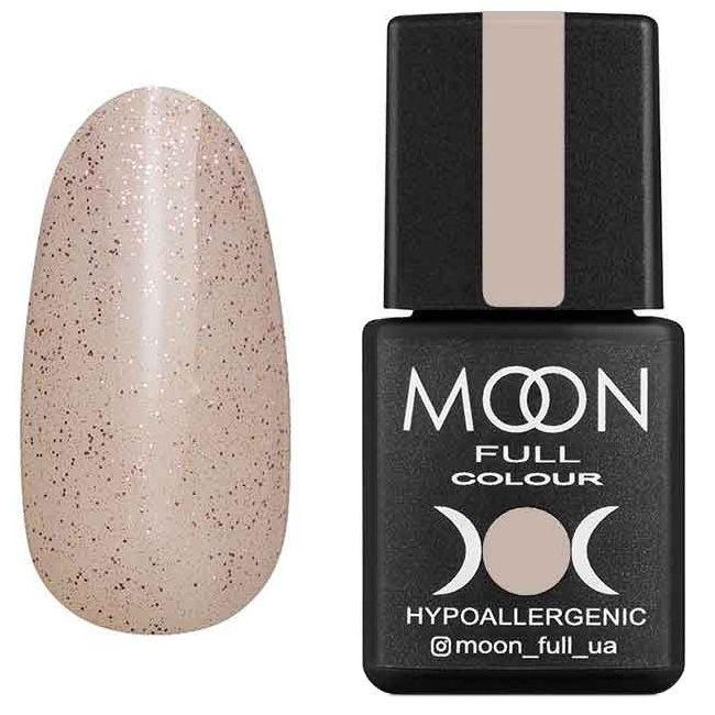 Гель-лак Moon Full Opal Color №503 (бежевый полупрозрачный с розовым шиммером) 8 мл