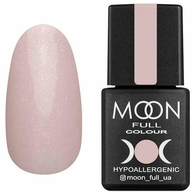 Гель-лак Moon Full Opal Color №504* (нежно-розовый полупрозрачный с золотым шиммером) 8 мл