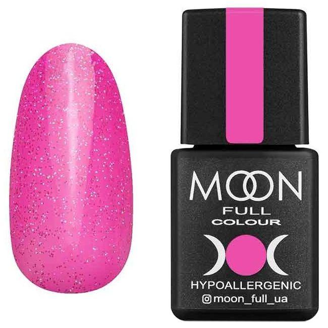 Гель-лак Moon Full Opal Color №506 (бледная фуксия с разноцветным шиммером) 8 мл