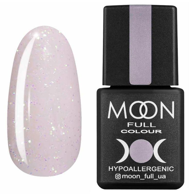 Гель-лак Moon Full Opal Color №510 (нежно-розовый с разноцветным шиммером) 8 мл