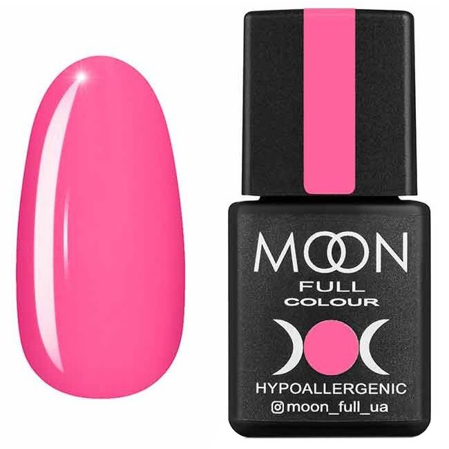 Гель лак Moon Full Summer 2020 №606* (ярко-розовый, эмаль) 8 мл
