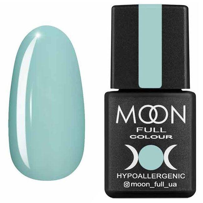 Гель лак Moon Full Summer 2020 №628* (бело-зеленый светлый, эмаль) 8 мл