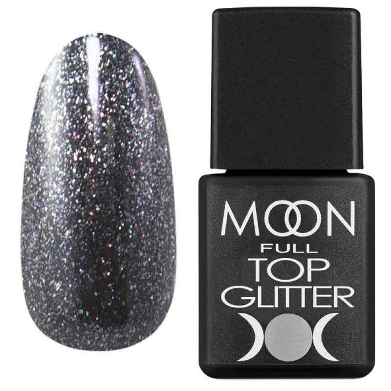 Топ для гель-лака Moon Full Top Glitter №03 (с серебристым микроблеском) 8 мл