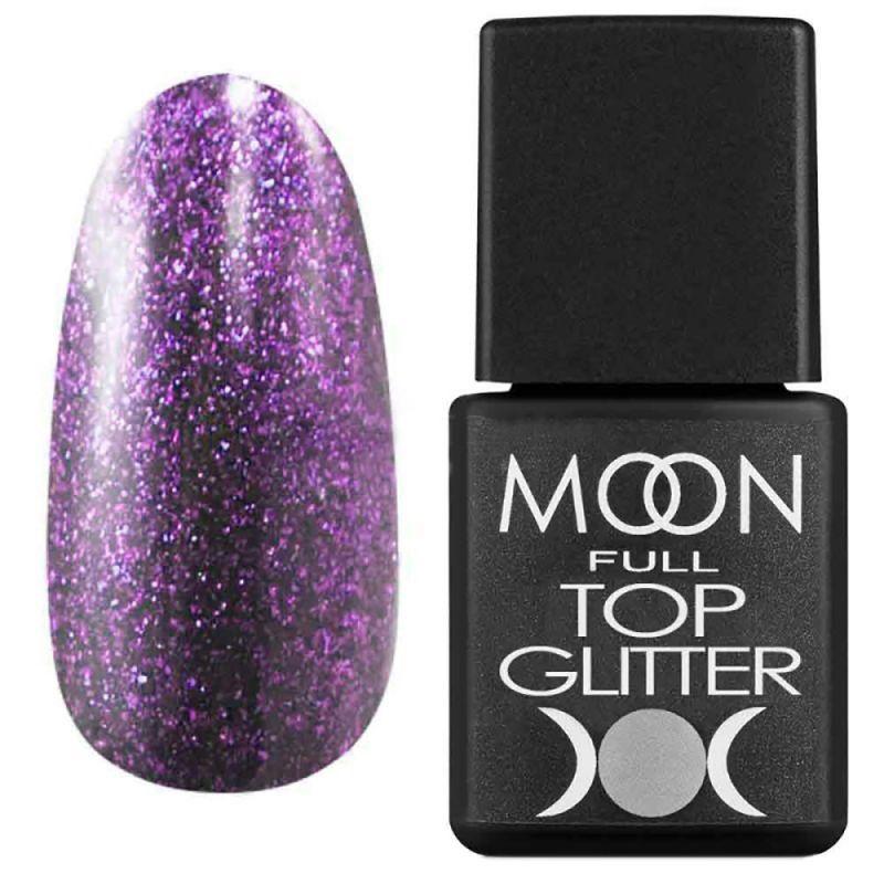 Топ для гель-лака Moon Full Top Glitter №05 (с фиолетовым микроблеском) 8 мл