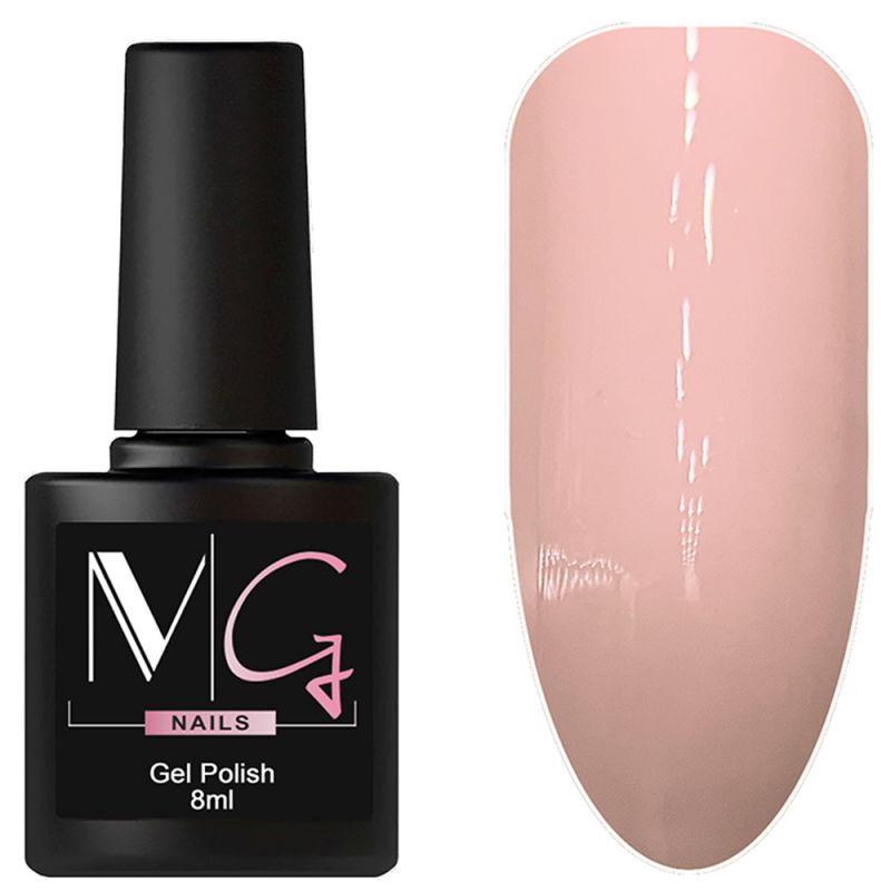 Гель-лак MG №009 Pale Pink (пастельно-розовый, эмаль) 8 мл